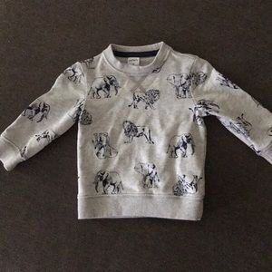 Carters lion and elephant sweater.